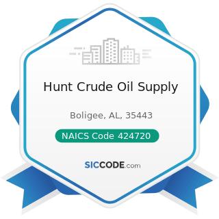 Hunt Crude Oil Supply - NAICS Code 424720 - Petroleum and Petroleum Products Merchant...