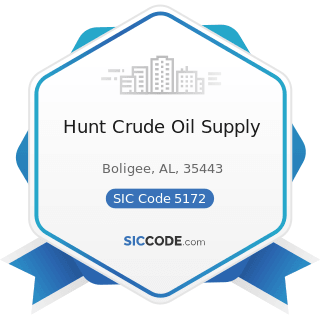 Hunt Crude Oil Supply - SIC Code 5172 - Petroleum and Petroleum Products Wholesalers, except...