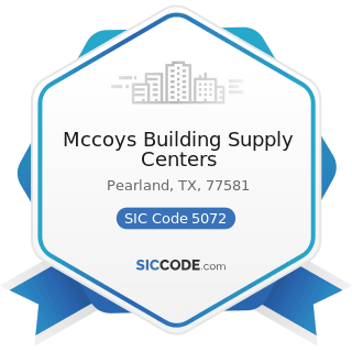 Mccoys Building Supply Centers - SIC Code 5072 - Hardware