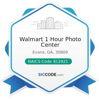 Walmart 1 Hour Photo Center - NAICS Code 812921 - Photofinishing Laboratories (except One-Hour)