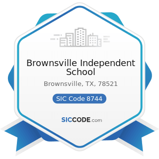 Brownsville Independent School - SIC Code 8744 - Facilities Support Management Services