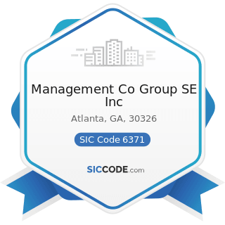 Management Co Group SE Inc - SIC Code 6371 - Pension, Health, and Welfare Funds