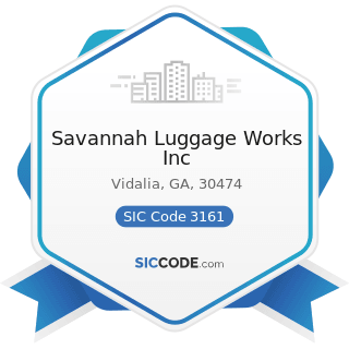 Savannah Luggage Works Inc - SIC Code 3161 - Luggage