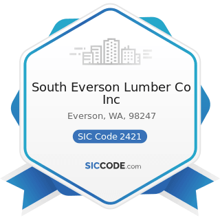 South Everson Lumber Co Inc - SIC Code 2421 - Sawmills and Planing Mills, General