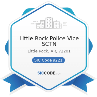 Little Rock Police Vice SCTN - SIC Code 9221 - Police Protection