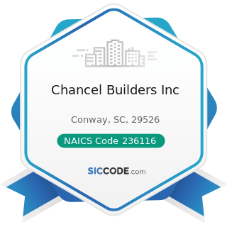 Chancel Builders Inc - NAICS Code 236116 - New Multifamily Housing Construction (except For-Sale...