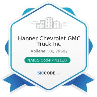 Hanner Chevrolet GMC Truck Inc - NAICS Code 441110 - New Car Dealers
