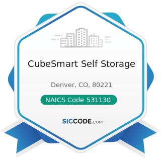 CubeSmart Self Storage - NAICS Code 531130 - Lessors of Miniwarehouses and Self-Storage Units