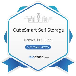 CubeSmart Self Storage - SIC Code 4225 - General Warehousing and Storage