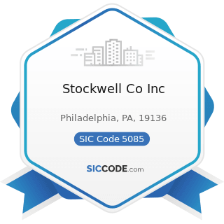 Stockwell Co Inc - SIC Code 5085 - Industrial Supplies