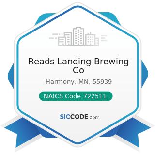 Reads Landing Brewing Co - NAICS Code 722511 - Full-Service Restaurants