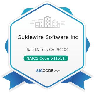 Guidewire Software Inc - NAICS Code 541511 - Custom Computer Programming Services