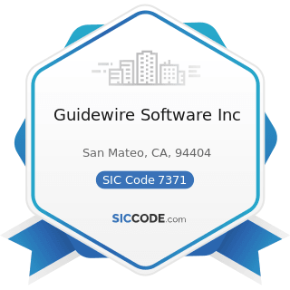 Guidewire Software Inc - SIC Code 7371 - Computer Programming Services