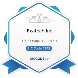 Exatech Inc - SIC Code 3842 - Orthopedic, Prosthetic, and Surgical Appliances and Supplies