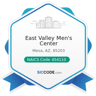 East Valley Men's Center - NAICS Code 454110 - Electronic Shopping and Mail-Order Houses