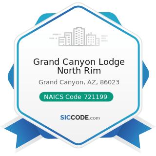 Grand Canyon Lodge North Rim - NAICS Code 721199 - All Other Traveler Accommodation