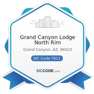 Grand Canyon Lodge North Rim - SIC Code 7011 - Hotels and Motels