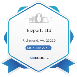 Bizport, Ltd - SIC Code 2759 - Commercial Printing, Not Elsewhere Classified