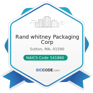 Rand whitney Packaging Corp - NAICS Code 541860 - Direct Mail Advertising