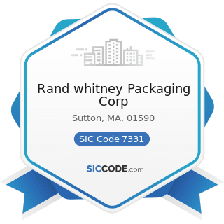 Rand whitney Packaging Corp - SIC Code 7331 - Direct Mail Advertising Services