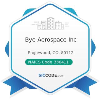 Bye Aerospace Inc - NAICS Code 336411 - Aircraft Manufacturing