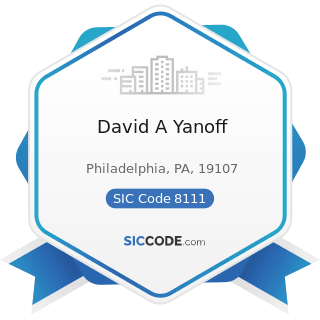 David A Yanoff - SIC Code 8111 - Legal Services