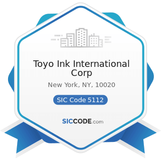 Toyo Ink International Corp - SIC Code 5112 - Stationery and Office Supplies