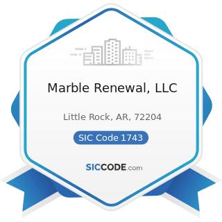 Marble Renewal, LLC - SIC Code 1743 - Terrazzo, Tile, Marble, and Mosaic Work
