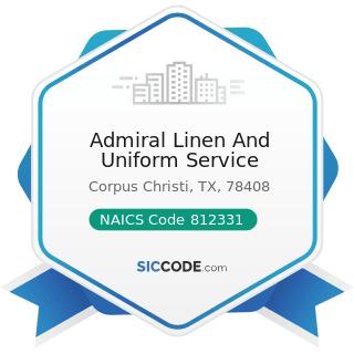 Admiral Linen And Uniform Service - NAICS Code 812331 - Linen Supply