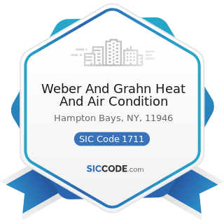 Weber And Grahn Heat And Air Condition - SIC Code 1711 - Plumbing, Heating and Air-Conditioning