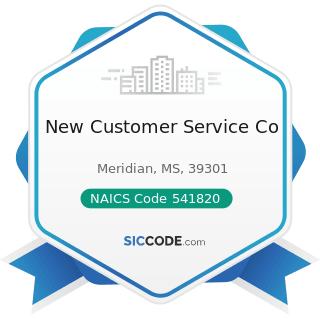 New Customer Service Co - NAICS Code 541820 - Public Relations Agencies