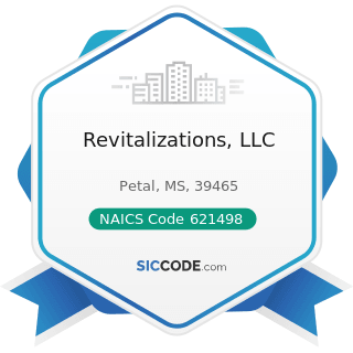 Revitalizations, LLC - NAICS Code 621498 - All Other Outpatient Care Centers