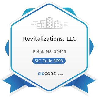 Revitalizations, LLC - SIC Code 8093 - Specialty Outpatient Facilities, Not Elsewhere Classified