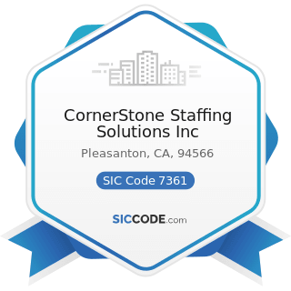 CornerStone Staffing Solutions Inc - SIC Code 7361 - Employment Agencies