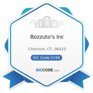 Bozzuto's Inc - SIC Code 5199 - Nondurable Goods, Not Elsewhere Classified