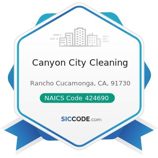 Canyon City Cleaning - NAICS Code 424690 - Other Chemical and Allied Products Merchant...