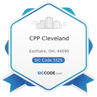 CPP Cleveland - SIC Code 3325 - Steel Foundries, Not Elsewhere Classified