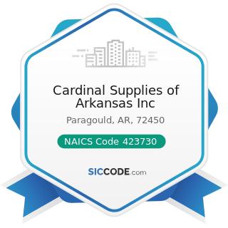 Cardinal Supplies of Arkansas Inc - NAICS Code 423730 - Warm Air Heating and Air-Conditioning...