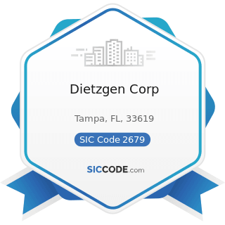 Dietzgen Corp - SIC Code 2679 - Converted Paper and Paperboard Products, Not Elsewhere Classified