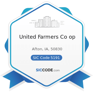 United Farmers Co op - SIC Code 5191 - Farm Supplies