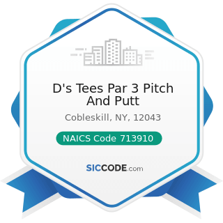 D's Tees Par 3 Pitch And Putt - NAICS Code 713910 - Golf Courses and Country Clubs