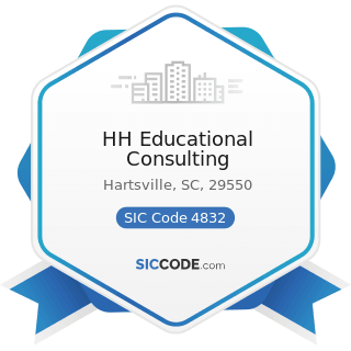 HH Educational Consulting - SIC Code 4832 - Radio Broadcasting Stations