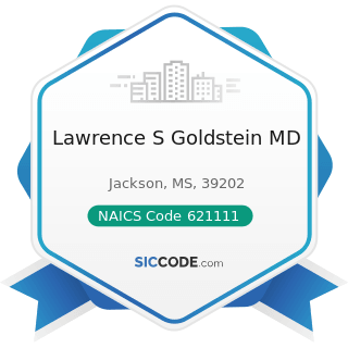 Lawrence S Goldstein MD - NAICS Code 621111 - Offices of Physicians (except Mental Health...