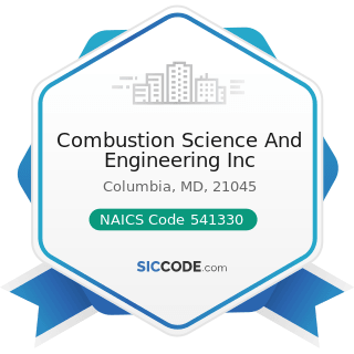 Combustion Science And Engineering Inc - NAICS Code 541330 - Engineering Services