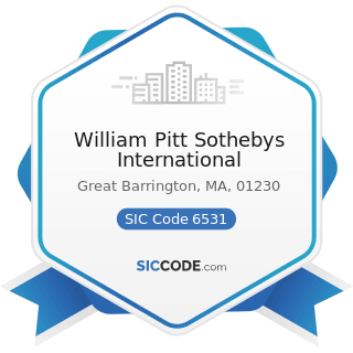 William Pitt Sothebys International - SIC Code 6531 - Real Estate Agents and Managers