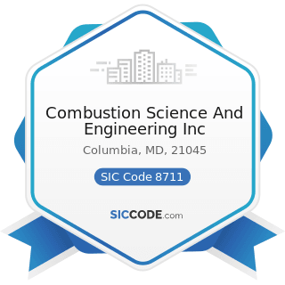 Combustion Science And Engineering Inc - SIC Code 8711 - Engineering Services