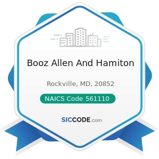 Booz Allen And Hamiton - NAICS Code 561110 - Office Administrative Services