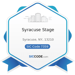 Syracuse Stage - SIC Code 7359 - Equipment Rental and Leasing, Not Elsewhere Classified