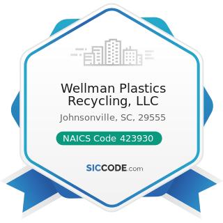 Wellman Plastics Recycling, LLC - NAICS Code 423930 - Recyclable Material Merchant Wholesalers