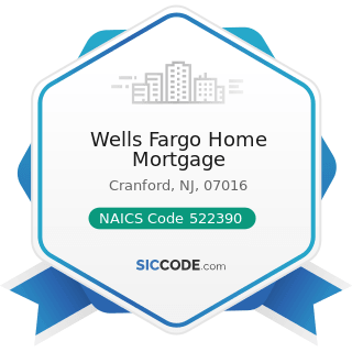 Wells Fargo Home Mortgage - NAICS Code 522390 - Other Activities Related to Credit Intermediation